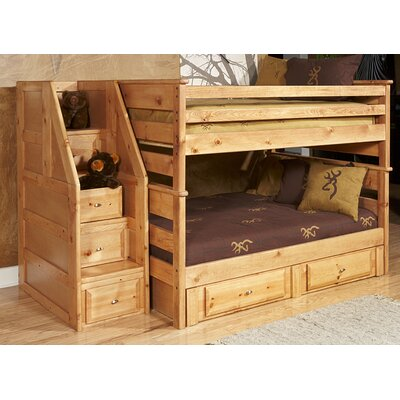 Allaroe Full Over Full Bunk with Stairway Chest and Storage