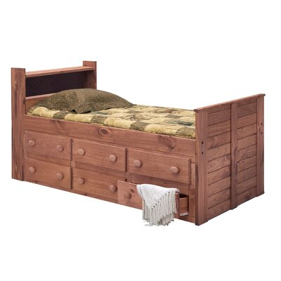 Christiano Bookcase Twin Mate's & Captain's Bed with Drawers