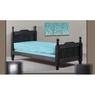 Chidester Four Poster Bed Bed Frame Color: Black, Size: Full