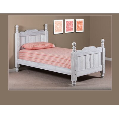 Chidester Four Poster Bed Bed Frame Color: White, Size: Full