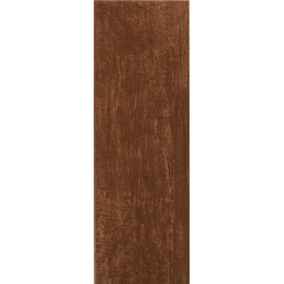 "Interceramic Colonial Wood 6"" x 20"" Ceramic Wood Tile in Mahogany"