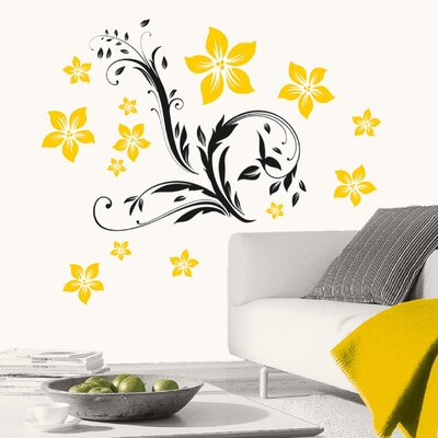 Eurographics Floral Ornament Wall Sticker