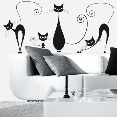 Eurographics Black Cats Wall Sticker