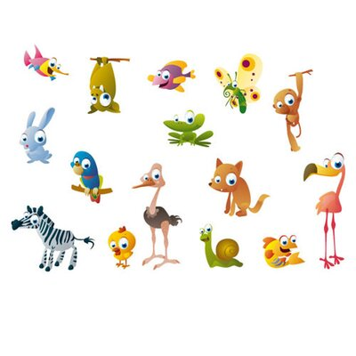 Eurographics Crazy Animals Wall Sticker