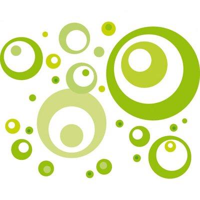 Eurographics Lime Green Bubbles Wall Sticker