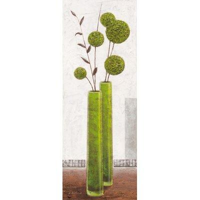 Eurographics Elegant Green Spheres Art Print by Karsten Kirchner on Canvas