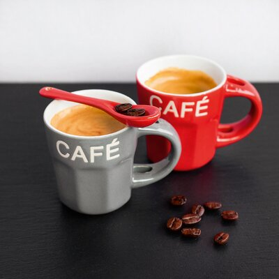 Eurographics Espresso Cups Photographic Print on Glass