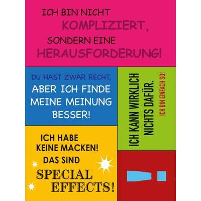 Eurographics German Slogans Magnets Typography