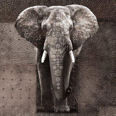 Eurographics Strass Elephant Photographic Print on Canvas