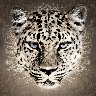 Eurographics Strass Leopard Graphic Art on Canvas