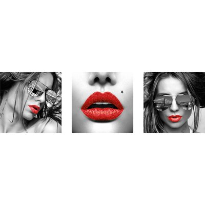 Eurographics Red Lips Wall Stickers