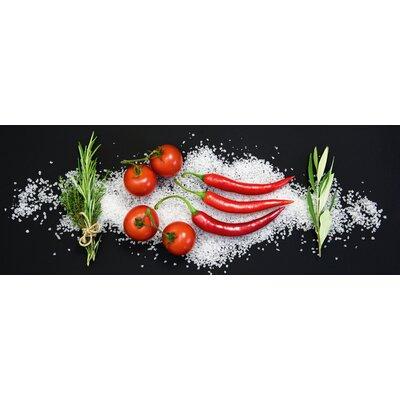 Eurographics Cucina Italiana Pomodori e Peperoncini by Uwe Merkel Photographic Print on Glass