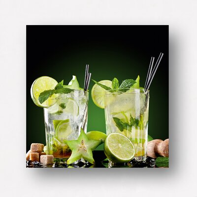 Eurographics Two Drinks by EG Design Team Photographic Print on Glass