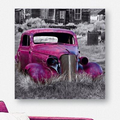 Eurographics Pink Old Car Photographic Print