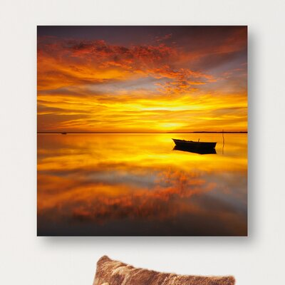 Eurographics During Sunrise Sunset Photographic Print on Glass