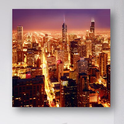 Eurographics High Above Chicago Photographic Print on Glass