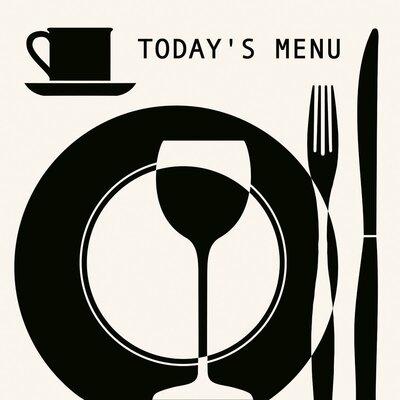 Eurographics Today's Menu Graphic Art Plaque
