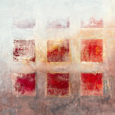 Eurographics Stretcher Red Squares Art Print on Canvas