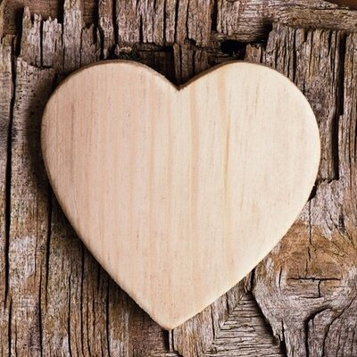 Eurographics Wooden Heart Photographic Print
