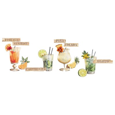 Eurographics Cocktails Wall Sticker