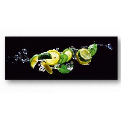 Eurographics Fresh Lime Diving Photographic Print on Glass