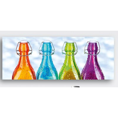 Eurographics Colourful Bottles by EG Design Team Photographic Print on Glass