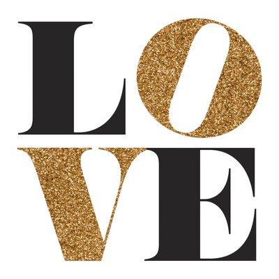 Fairmont Park Gold Love Graphic Art on Canvas