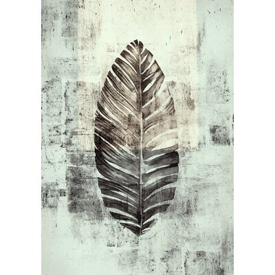 Eurographics My Black Leaf Framed Canvas Print