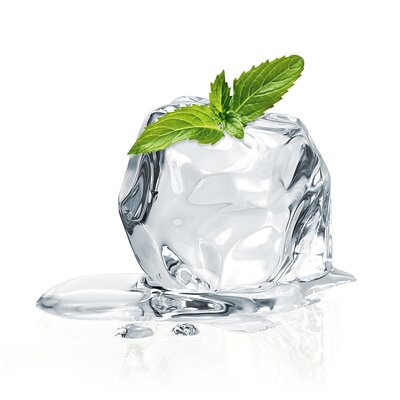 Eurographics Stack Of Mint Ice Cubes Photographic Print Glass Art