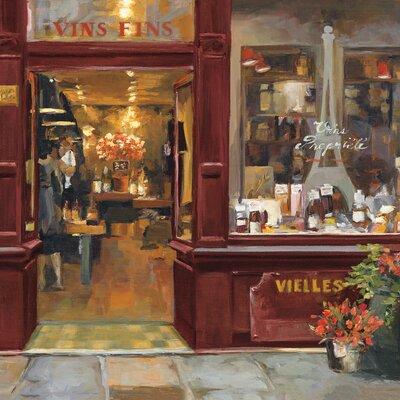 Eurographics Parisian Wine Shop II Painting Print