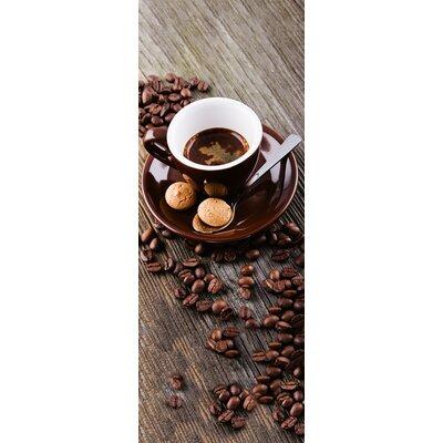 Eurographics Hot Brown Coffee Glass Wall Art