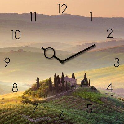Eurographics Time Art Tuscany Garden Wall Clock