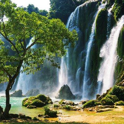 Eurographics Waterfall in Vietnam Photo Print Glass Art