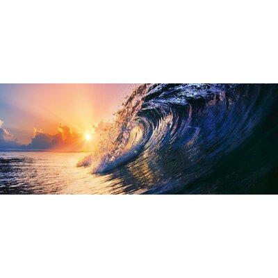 Eurographics Tropical Sunset Wave Photographic Print Glass Wall Art
