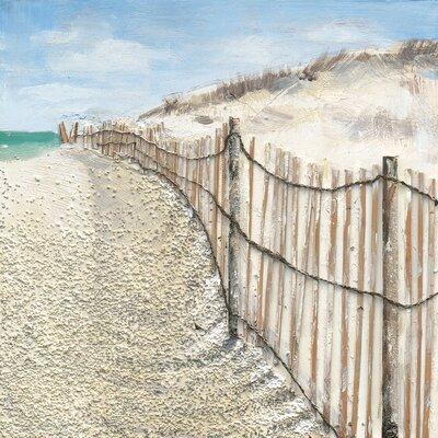 Eurographics Silent Dunes Original Painting Framed Canvas