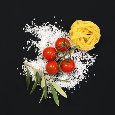 Eurographics Cucina Italian Pasta Glass Wall Art