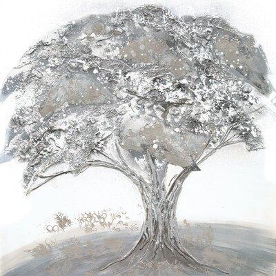 Eurographics Lonesome Tree Original Painting Framed Canvas