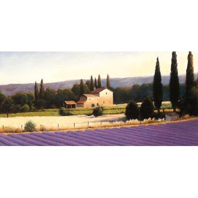 Eurographics Lavender Fields Panel III Wall Art on Canvas