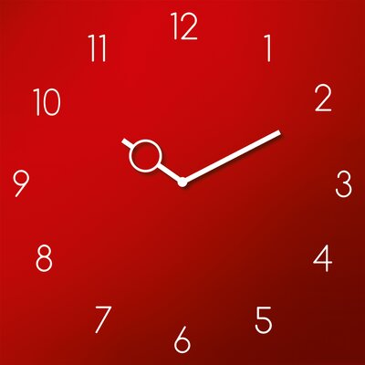 Eurographics Time Art Red Analogue Wall Clock