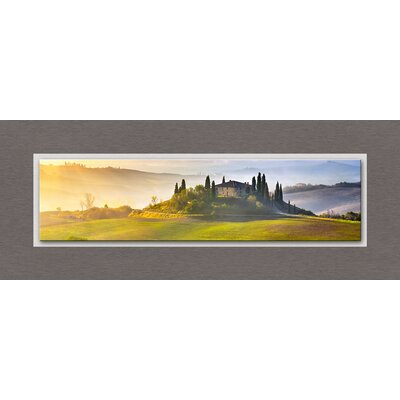 Eurographics Top Label Acryl Tuscany At Sunrise Glass Wall Art
