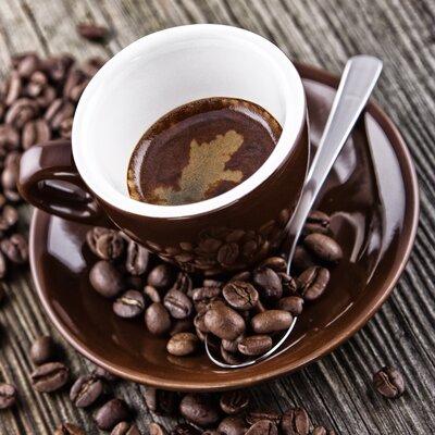 Eurographics Hot Brown Coffee & Beans Glass Wall Art