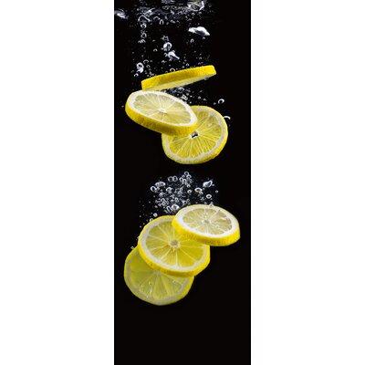Eurographics Lemon Slices In Black Water Photo Print Graphic Art Glass Art