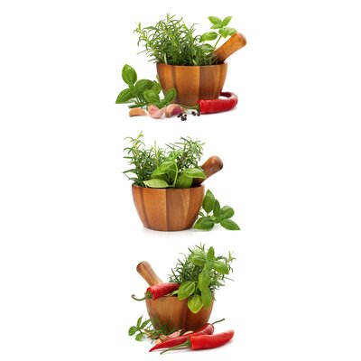 Eurographics Fresh Flavoring Spices & Herbs Glass Wall Art