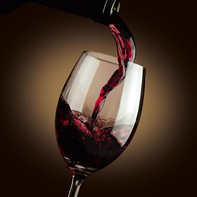 Eurographics Dark Flowing Red Wine Glass Wall Art