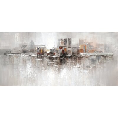 Eurographics Inner Split Original Painting Framed Canvas