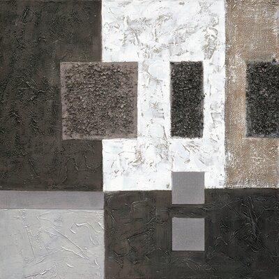 Eurographics Black Original Painting Framed Canvas