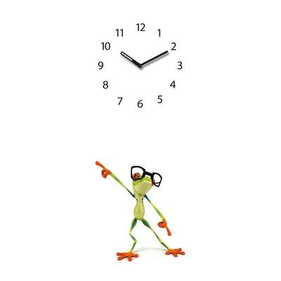 Eurographics Time Art Dancing Frog Wall Clock