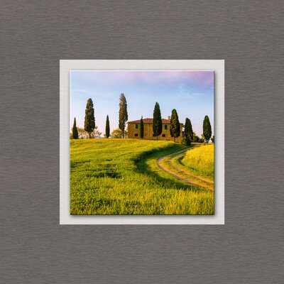 Eurographics Top Label Acryl Tuscan Farmhouse Glass Wall Art