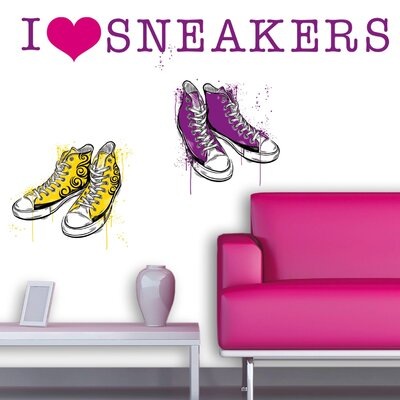 Eurographics I Love Sneakers Wall Sticker