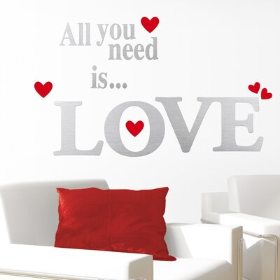 Eurographics All You Need is Love Wall Tattoo